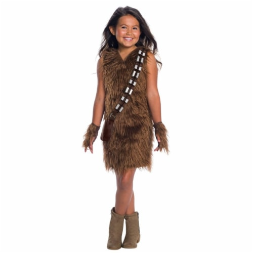 Rubies 404629 Girls Star Wars Classic Deluxe Chewbacca Dress, Medium Perspective: front