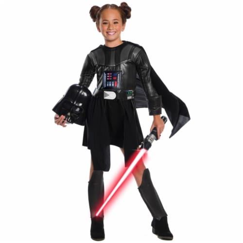 Rubies 404634 Girls Star Wars Classic Deluxe Darth Vader Dress, Large Perspective: front