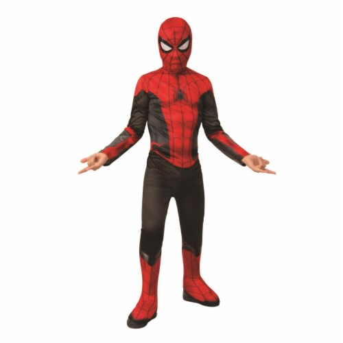 Rubies 404639 Spider Man Far From Home Red & Black Suit Child Costume for Boys - Small Perspective: front