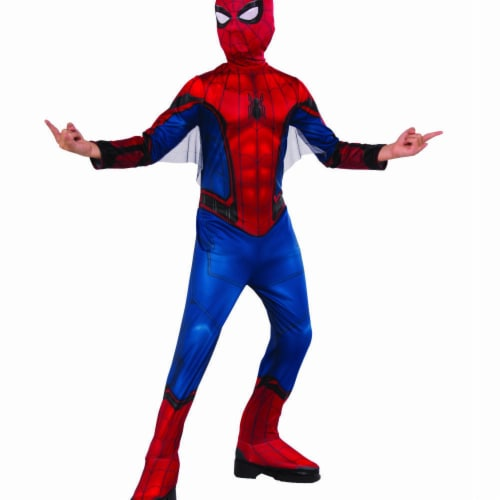 Rubies 404641 Boys Spider Man Far From Home Red & Blue Suit Child Costume - Medium Perspective: front