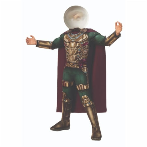 Rubies 404659 Spider Man Far From Home Mysterio Deluxe Child Costume for Boys - Medium Perspective: front