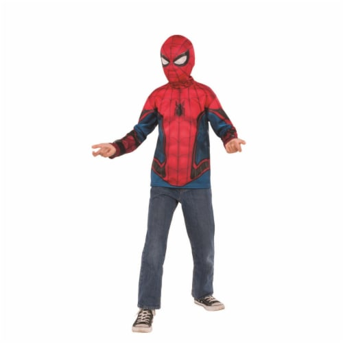 Rubies 404671 Boys Spider Man Far From Home Costume Top Red & Blue Suit - Small Perspective: front