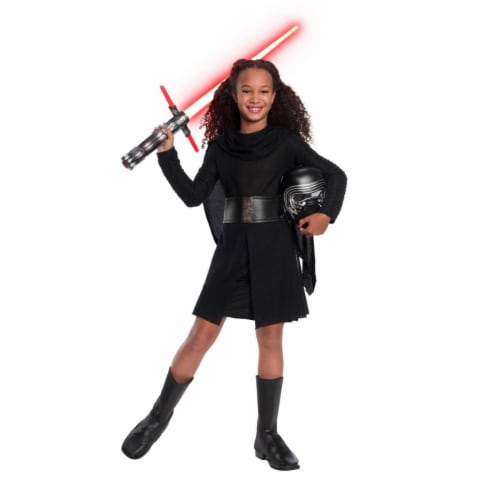 Rubies 404684 Girls Star Wars Episode VII Deluxe Kylo Ren Child Costume, Large Perspective: front