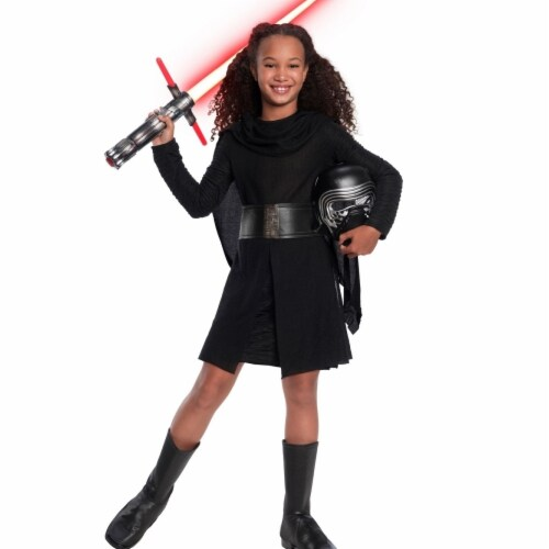 Rubies 404686 Girls Star Wars Episode VII Deluxe Kylo Ren Child Costume, Small Perspective: front