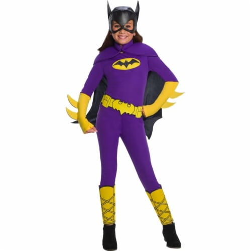 Rubies 404698 Girls DC Super Hero Batgirl Deluxe Child Costume, Large Perspective: front