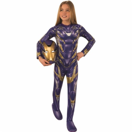 Rubies 404729 Avengers New Girls Armored Child Costume - Large Perspective: front