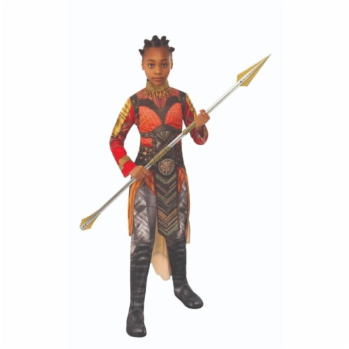 Rubies 404733 Avengers Dora Milaje Okoye Gold Child Costume for Girls - Medium Perspective: front