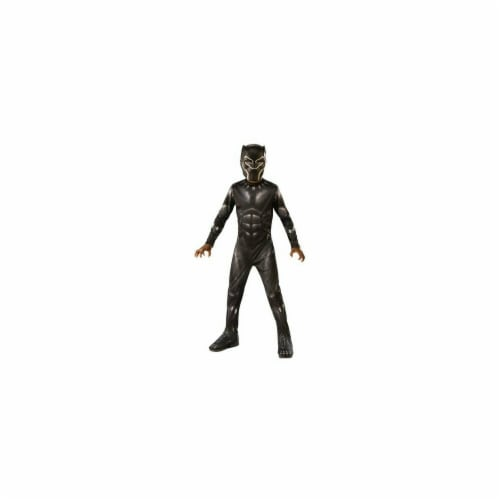 Rubie's Costume Company Avengers Endgame Black Panther Youth Costume Perspective: front