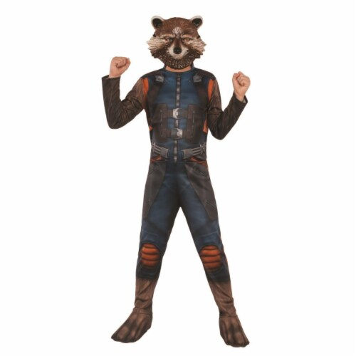 Rubies 404756 Boys Avengers Rocket Raccoon Child Costume - Large Perspective: front