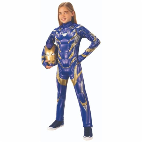 Rubies 404788 Avengers New Girls Deluxe Armored Child Costume - Small Perspective: front