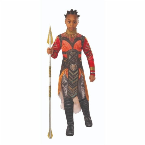 Rubies 404790 Avengers Dora Milaje Okoye Gold Deluxe Child Costume for Girls - Medium Perspective: front