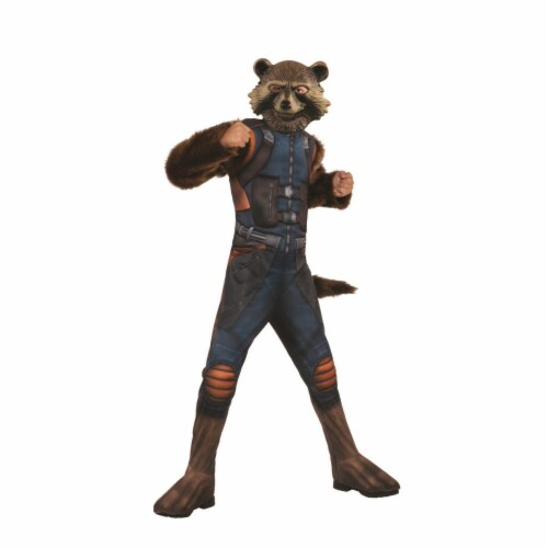 Rubies 404814 Boys Avengers Rocket Raccoon Deluxe Child Costume - Medium Perspective: front