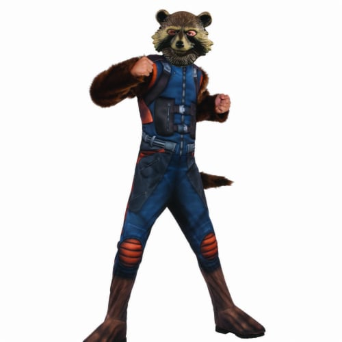 Rubies 404815 Boys Avengers Rocket Raccoon Deluxe Child Costume - Small Perspective: front