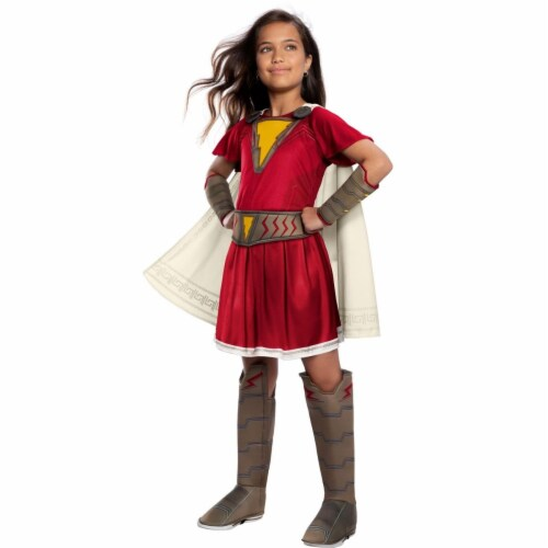 Rubies 404850 Girls Shazam Mary Deluxe Child Costume, Small Perspective: front