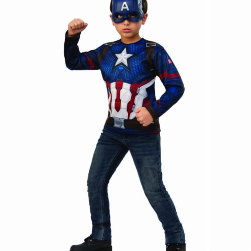 Rubies 404882 Avengers Captain America Child Costume Top - Large Perspective: front