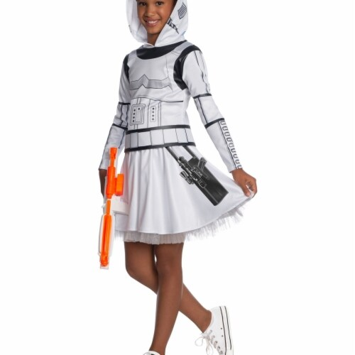 Rubies 404969 Girls Star Wars Classic Stormtrooper Dress, Small Perspective: front