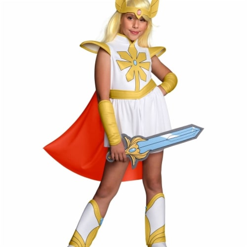 Rubies 405017 Girls She-Ra & The Princess of Power She-Ra Child Costume, Small Perspective: front