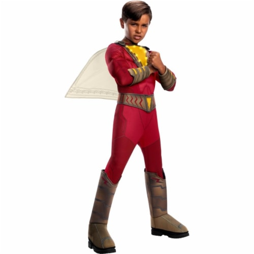 Rubies 405037 Child Shazam Deluxe with Lights Costume for Boys, Medium Perspective: front