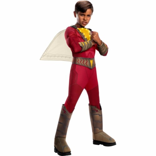 Rubies 405038 Child Shazam Deluxe with Lights Costume for Boys, Small Perspective: front