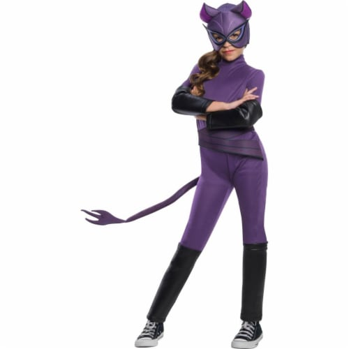 Rubies 405046 Girls DC Super Hero Catwoman Costume, Small Perspective: front