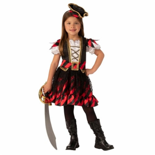 Rubies 405122 Girls Pirate Child Costume, Medium Perspective: front
