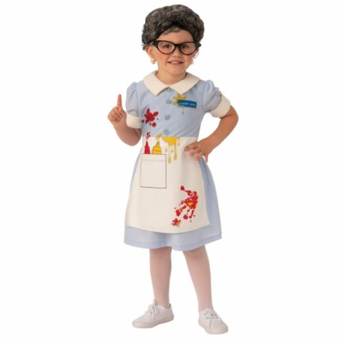 Rubies 405126 Girls Lunch Lady Child Costume, Medium Perspective: front
