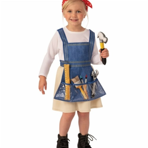 Rubies 405128 Girls Ms. Fixit Child Costume, Medium Perspective: front