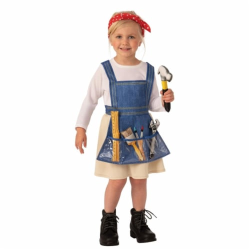Rubies 405129 Girls Ms. Fixit Child Costume, Small Perspective: front