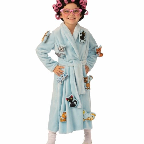 Rubies 405132 Girls Crazy Cat Lady Child Costume, Medium Perspective: front