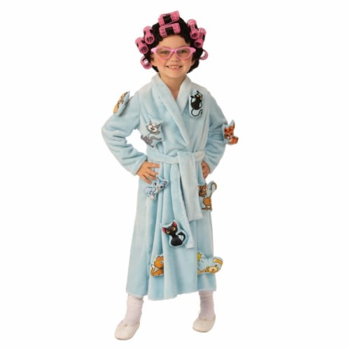 Rubies 405133 Girls Crazy Cat Lady Child Costume, Small Perspective: front