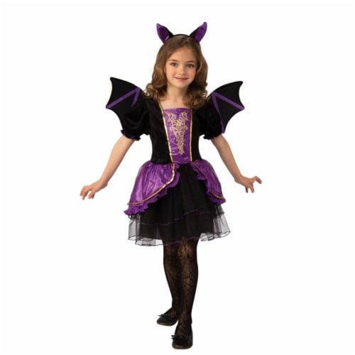Rubies 405144 Girls Pretty Bat Costume, Medium Perspective: front