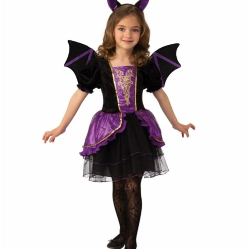 Rubies 405145 Girls Pretty Bat Costume, Small Perspective: front