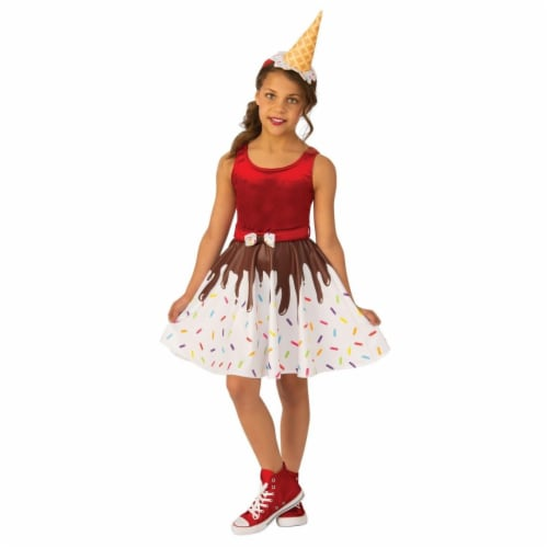 Rubies 405153 Girls Ice Cream Costume, Medium Perspective: front