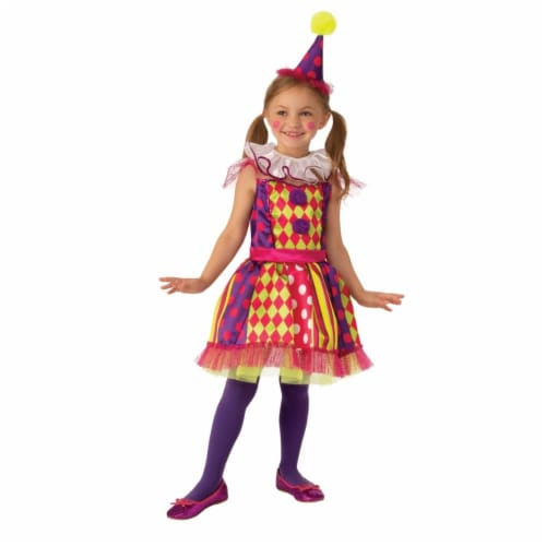 Rubies 405246 Bright Clown Child Costume - Medium Perspective: front