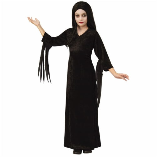 Rubies 405344 The Addams Family Morticia Child Costume - Medium Perspective: front
