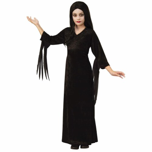 Rubies 405345 The Addams Family Morticia Child Costume - Small Perspective: front