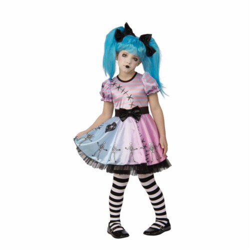 Rubies 405524 Little Blue Skelly Child Costume - Medium Perspective: front