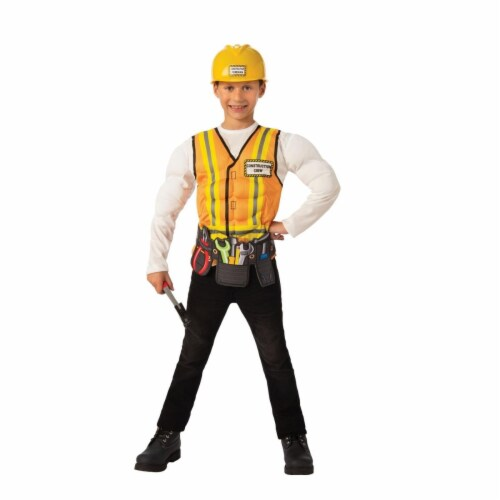 Rubies 405547 Construction Worker Child Costume - Medium Perspective: front