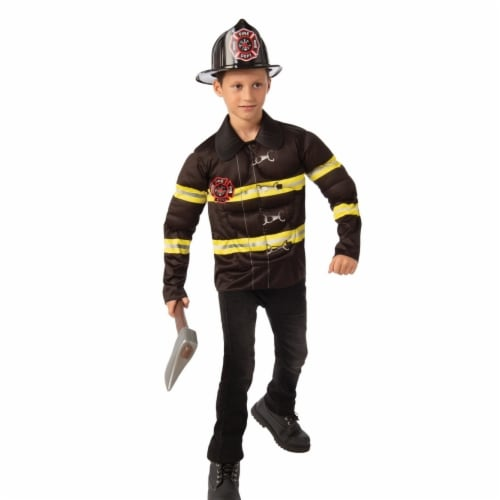 Rubies 405550 Fireman Child Costume - Medium Perspective: front