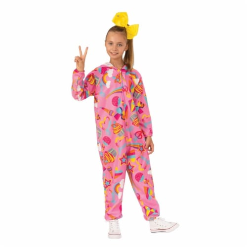Rubies 405555 JoJo Siwa JoJo one piece Pink Child Costume - Large Perspective: front