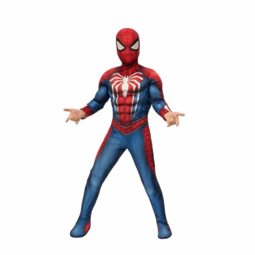 Rubies 405676 Spider-Man Gamer Verse Child Deluxe Child Costume - Medium Perspective: front
