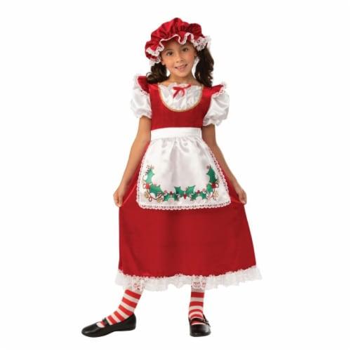 Rubies 405845 Mrs. Santa Claus Child Costume - Medium Perspective: front