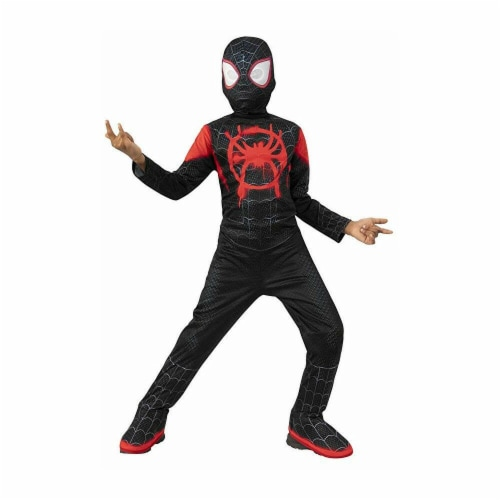 Rubies 405860 Spider-Man Into the Spider-Verse Miles Morales Child Costume - Medium Perspective: front