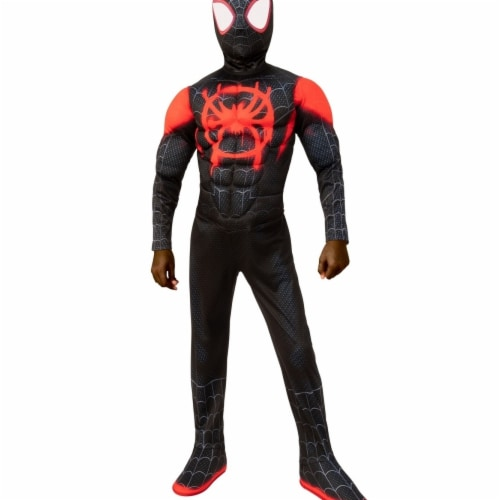 Rubies 405865 Spider-Man Into the Spider-Verse Miles Morales Child Costume - Large Perspective: front