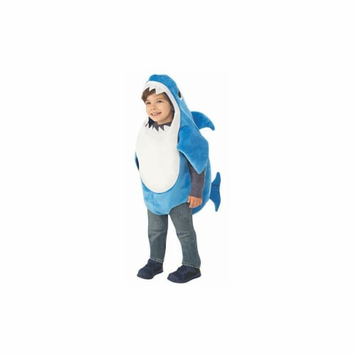 Rubies 414231 Baby Shark-Daddy Shark Kids Costume - Small Perspective: front
