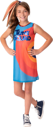 Rubies Youth Medium Space Jam Lola Bunny Costume Perspective: front