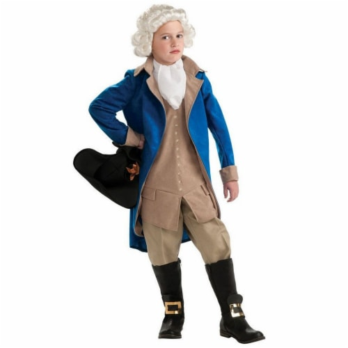 Seasons Boys' Medium Presidents George Washington Costume Perspective: front