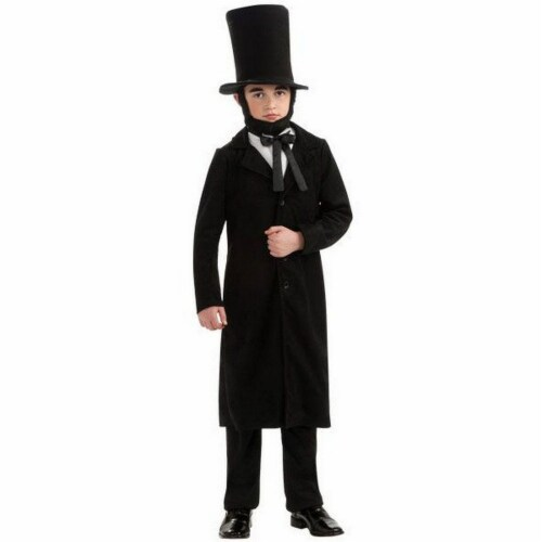 Seasons Children's Size 12-14 Abraham Lincoln Costume Perspective: front