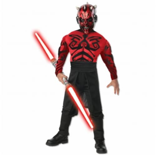 Rubies Costumes Stars Wars Deluxe Muscle Chest Darth Maul Child Costume Large - 12-14 Perspective: front