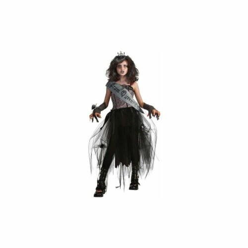 Costumes For All Occasions RU884782MD Goth Prom Queen Child Medium Perspective: front